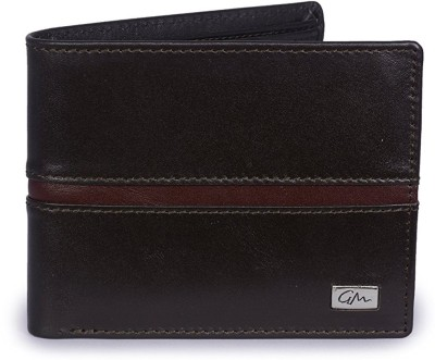 Gentleman Men Black, Brown Genuine Leather Wallet(6 Card Slots)