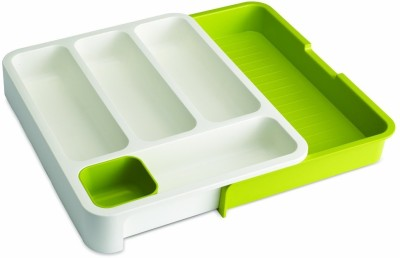 KridhaCart Empty Cutlery Box Drawer Case(Green Holds 50 pieces)