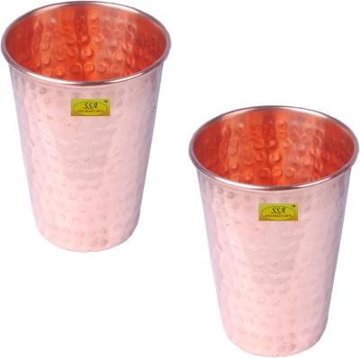 Shivshakti Arts Glass Set(300 ml, Brown, Pack of 2)
