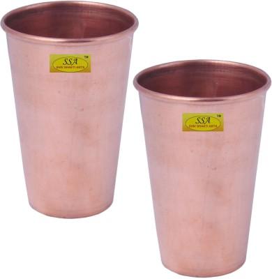 Shivshakti Arts Glass Set(200 ml, Brown, Pack of 2)