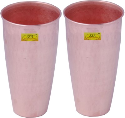 Shivshakti Arts Glass Set(600 ml, Brown, Pack of 2)