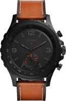 Fossil Q Nate Hybrid (For Men) Smartwatch(Brown Strap Regular)