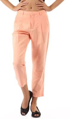 Pepe Jeans Regular Fit Women's Orange Trousers at flipkart