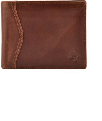 Leather Zentrum Men Tan Genuine Leather Wallet(13 Card Slots)