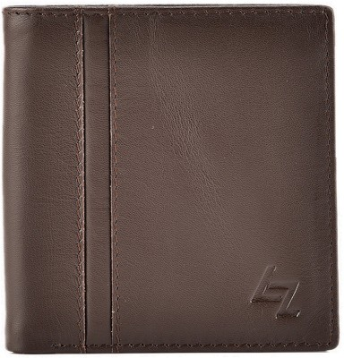 Leather Zentrum Men Brown Genuine Leather Wallet(4 Card Slots)
