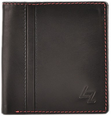 Leather Zentrum Men Black Genuine Leather Wallet(4 Card Slots)