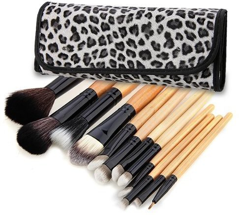Toogoo(r) Sodial(r) Makeup Cosmetic Toiletry Eyeshadow Powder Brush Set Kit+case(Pack of 12)