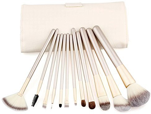 Putwo Make Up Brushes Set With Makeup Kit - White, 9.14 Ounce(Pack of 12)