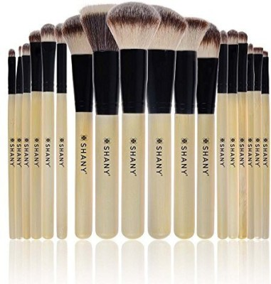 Shany Cosmetics Shany Triple Pro Brush Set Synthetic And Natural Hair With Apron, Bamboo(Pack of 18)