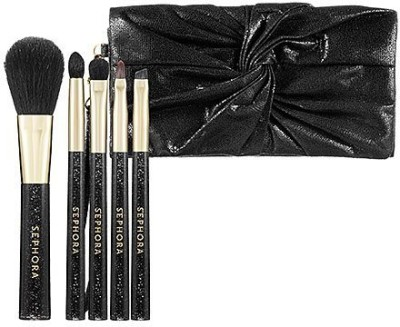 Sephora Collection Bow Clutch Brush Set Black(Pack of 5)