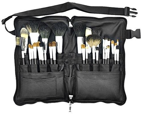 Msq Mink Hair Professional Cosmetic Tool Waist Makeup Brush Set Black(Pack of 32)