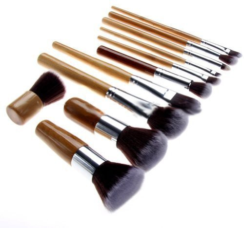 Gomebuy Nsstar Professional Cosmetic Makeup Brush Set With Bag (bamboo: ) By(Pack of 11)