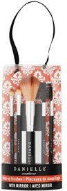 Danielle Exotic Escapes Make Up Brush Set With Mirror, Coral(Pack of 5)