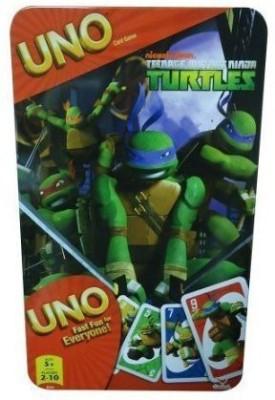 5Star-TD Uno Card Game In Tin Box: Tmnt Teenage Mutant Ninja Turtles(Multicolor)