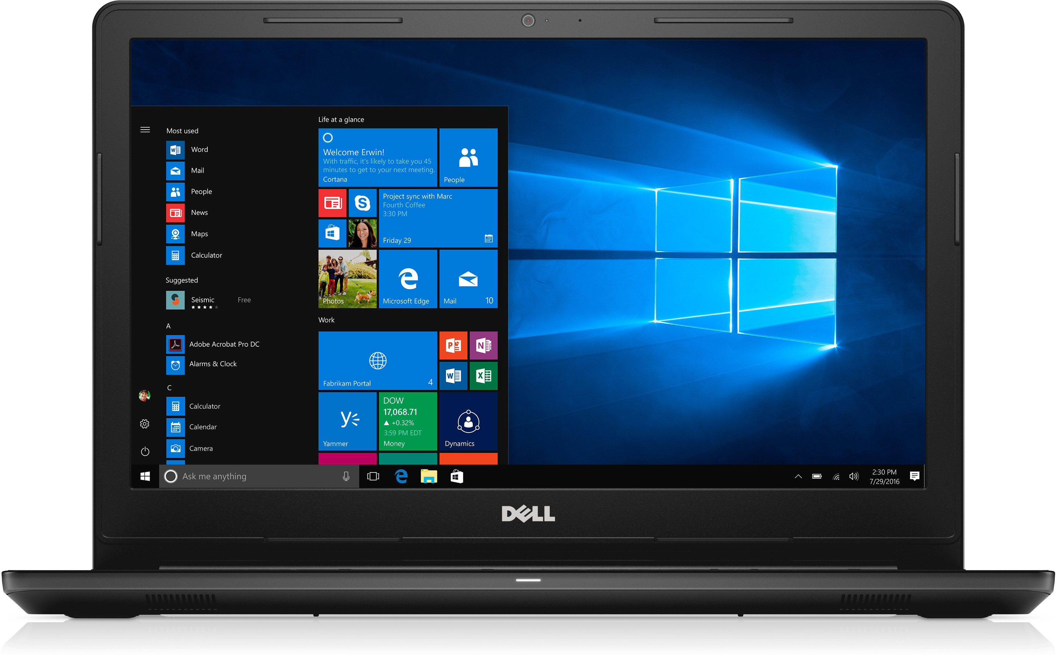 View Dell Insprion Core i7 7th Gen - (8 GB/1 TB HDD/Windows 10/2 GB Graphics) 3567 Notebook(15.6 inch, Black, 2.5 kg) Laptop
