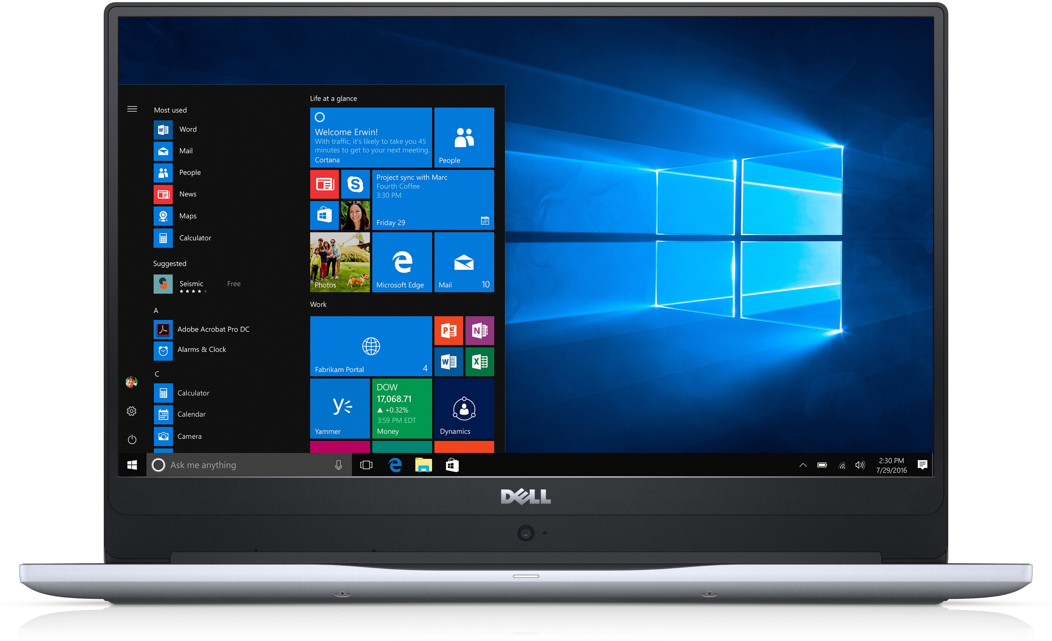 View Dell Inspiron 7000 Core i7 7th Gen - (8 GB/1 TB HDD/128 GB SSD/Windows 10 Home/4 GB Graphics) 7560 Notebook(15.6 inch, Gray) Laptop
