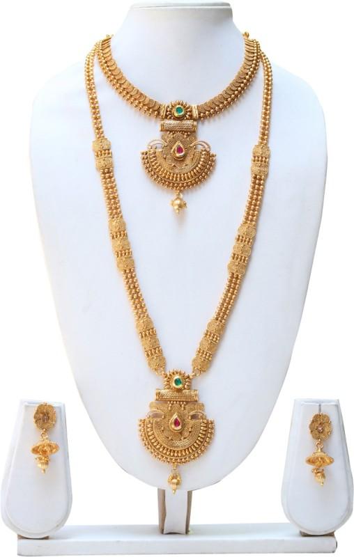 Swarajshop Copper Jewel Set(Gold)