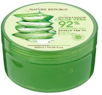 Night Plaza Nature Republic New Soothing Moisture Aloe Vear Gel 92% Korean Cosmetics(300 ml)