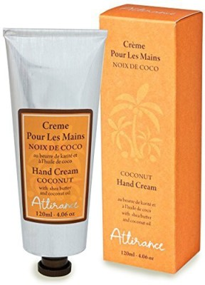 Attirance Natural Cosmetics Attirance - Hand Cream - Coconut - All Natural With Coconut Oil, Honey Extract & Shea Butter(120 ml)