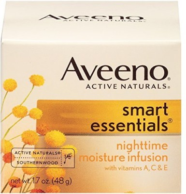 Aveeno Smart Essentials Nighttime Moisture Infusion Facial Moisturizer(48 g) at flipkart