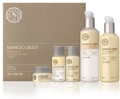 The Face Shop Mango Seed Skincare Set (toner + Lotion 130ml)(150 ml)