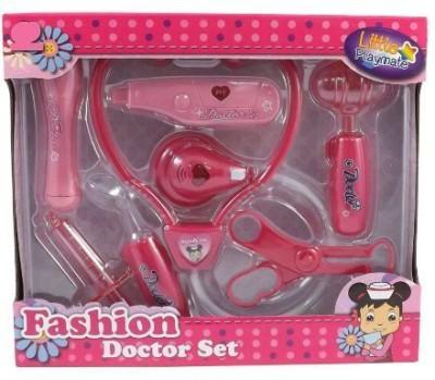 Powertrc Doctor Nurse Pink Medical Kit Playset for Kids
