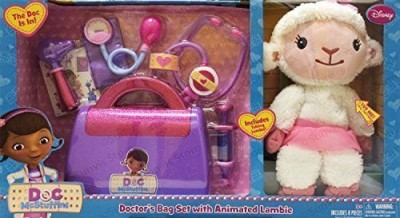 Just Play Doc McStuffins Doctors 8-piece Bag Set with Animated Lambie