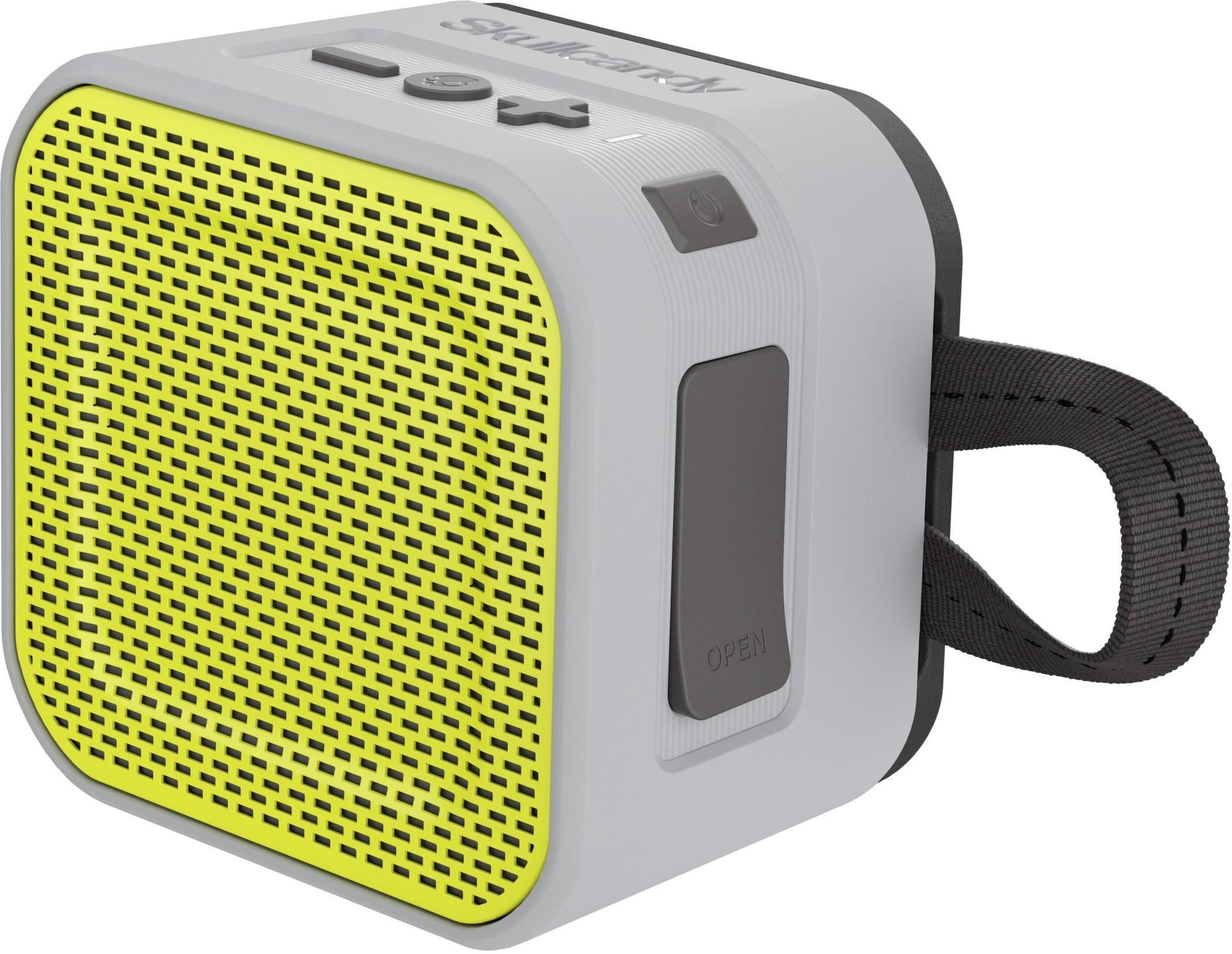 Skullcandy S7PBW-J583 Barricade Mini Portable Bluetooth Mobile/Tablet Speaker(Gray/Hot Lime, 1 Channel)
