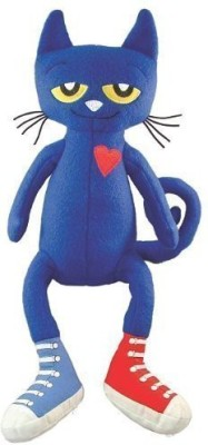 2PO Plush Pete The Cat In Shoes Stuffed Animal Toy - 1.2 inch(White)