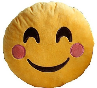 2mbdesign Emoji 32Cm Silly Smiley Pillows Emoticon Round Cushion Pillow Stuffed Plush Soft Toy-Happy - 5 inch(Yellow)