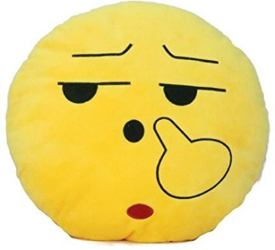 2mbdesign Emoji 32Cm Silly Smiley Pillows Emoticon Round Cushion Pillow Stuffed Plush Soft Toy-Finger-Smiley - 5 inch(Yellow)