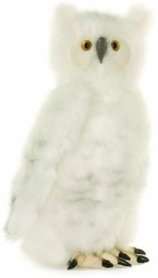 Hansa Moving Head Snow Owl Plush - 15.75 inch(Multicolor)