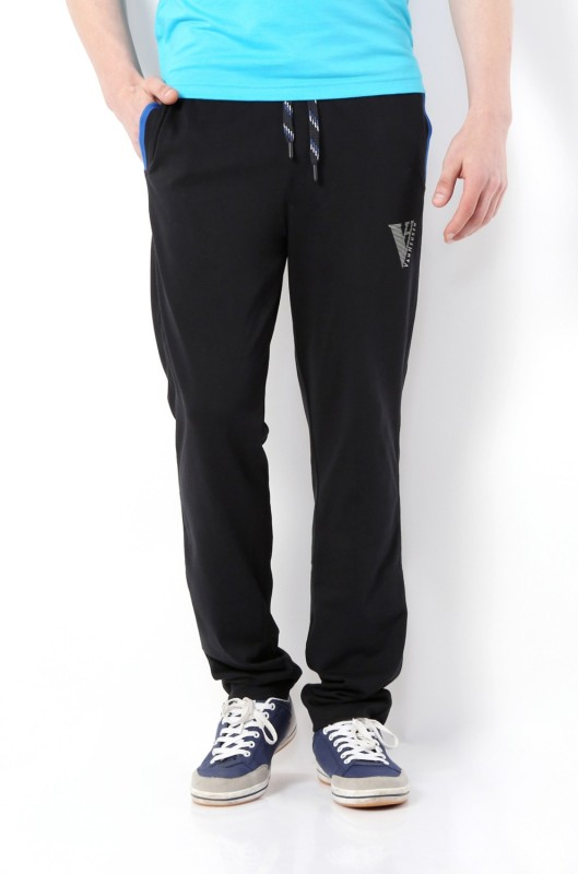 Van Heusen Solid Men's Black Track Pants