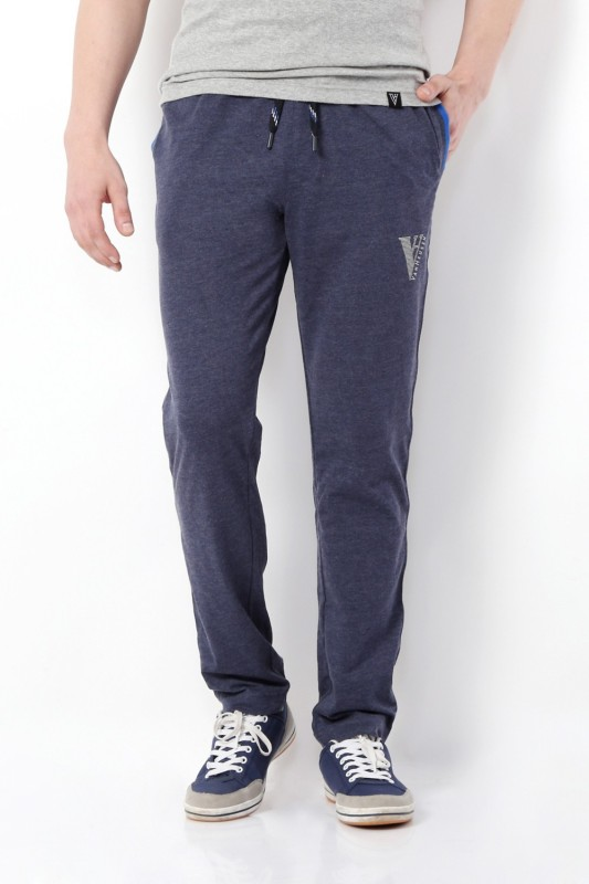 Van Heusen Solid Men's Blue Track Pants