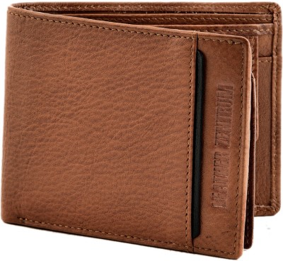 Leather Zentrum Men Tan Genuine Leather Document Holder(8 Card Slots)
