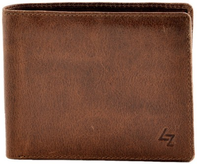 Leather Zentrum Men Tan Genuine Leather Wallet(4 Card Slots)