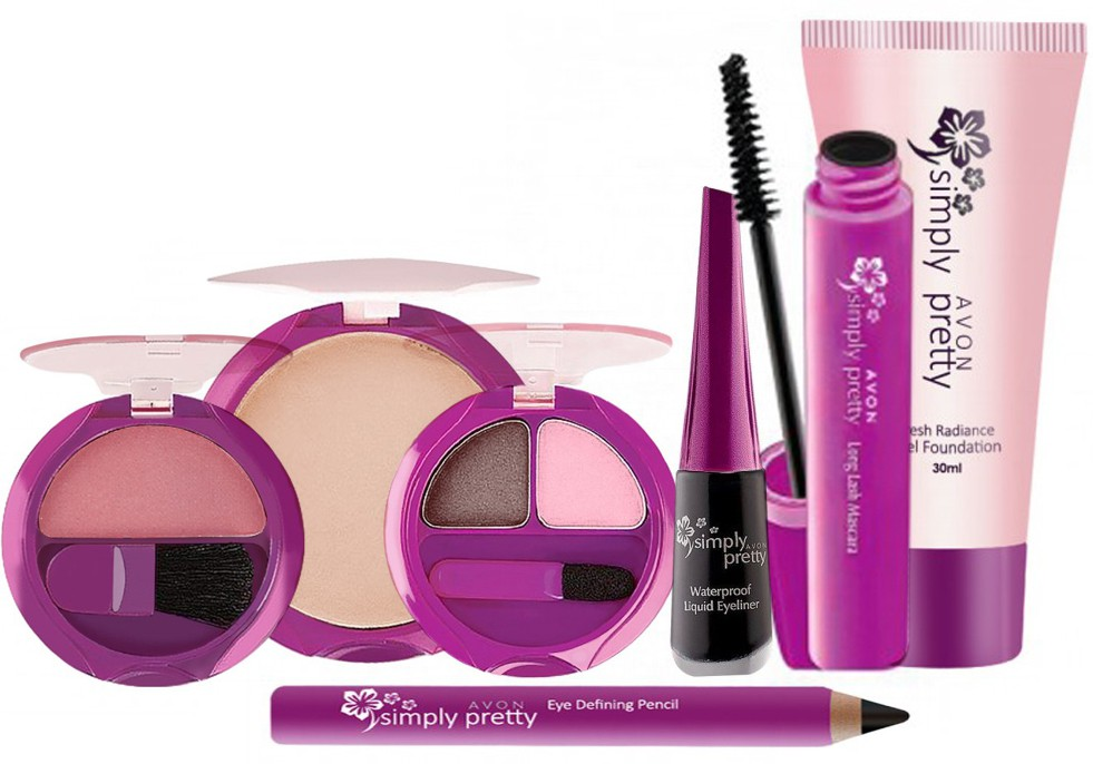 Avon Anew Simply Pretty Full Face Makeup Combo Kit (7 pcs)(Set of 7)