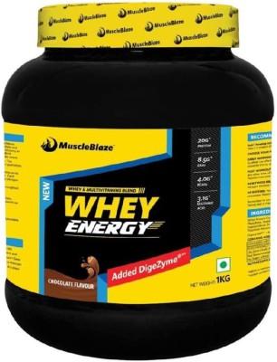 MuscleBlaze Whey Energy with Digezyme Whey Protein(1 kg, Chocolate)