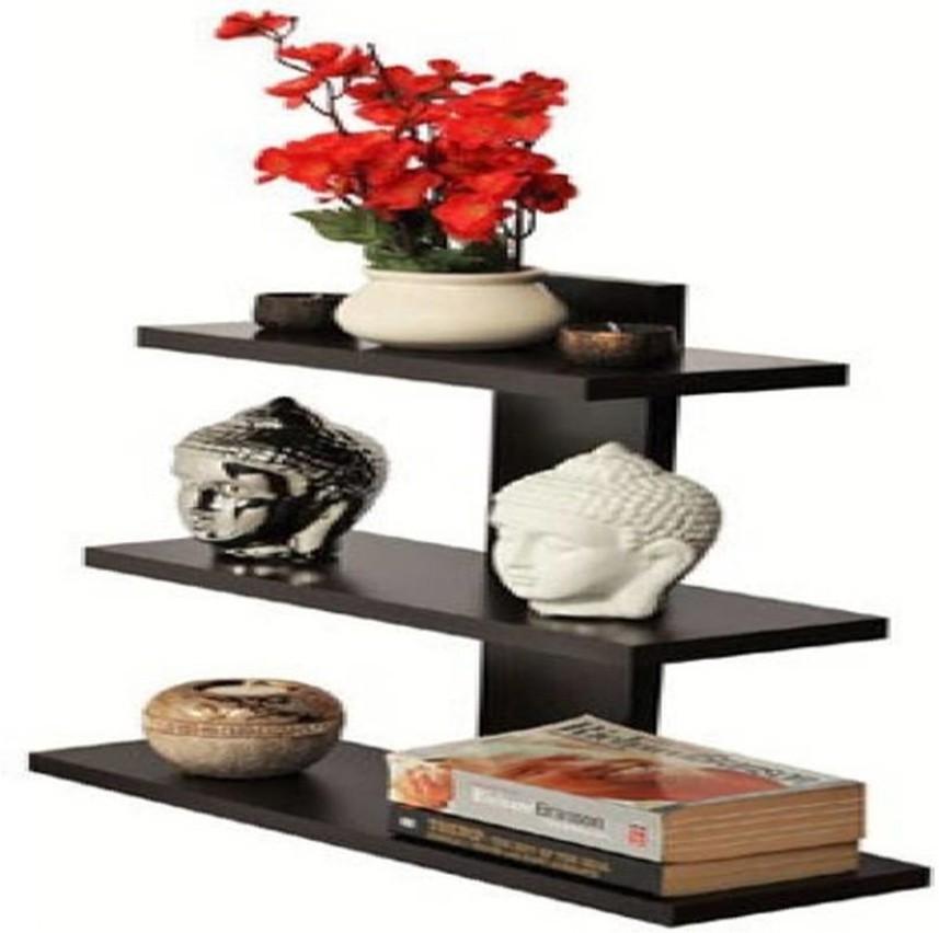 View Junkyard MDF Wall Shelf(Number of Shelves - 1, Brown) Furniture (Junkyard)