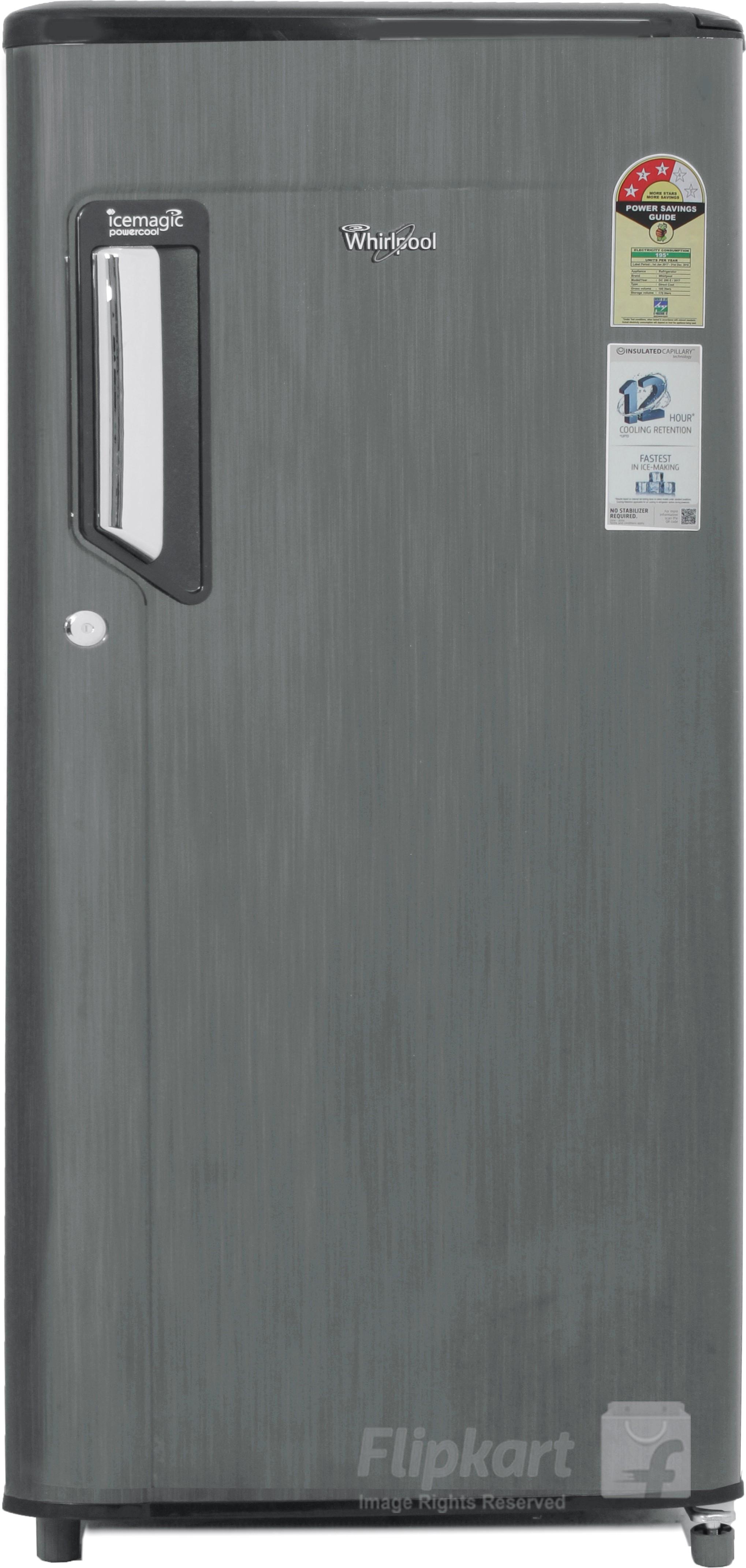 Whirlpool 185 L Direct Cool Single Door Refrigerator(200 IMPWCOOL PRM 3S, Grey Titanium, 2017)   Refrigerator  (Whirlpool)