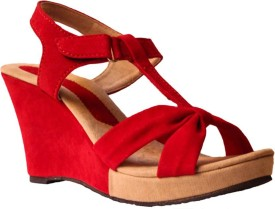 Spellio Women Red Wedges