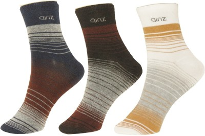 Neska Moda Mens Striped Ankle Length Socks(Pack of 3)