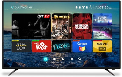 CloudWalker Cloud TV 139cm (55) Ultra HD (4K) Smart LED TV(55SU, 3 x HDMI, 2 x USB) at flipkart