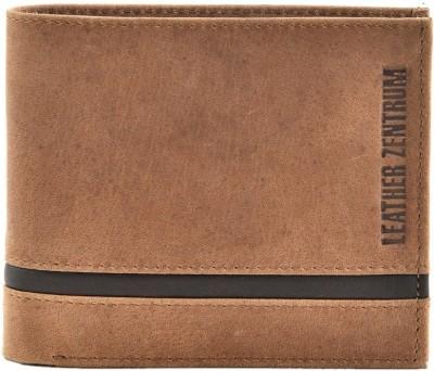 Leather Zentrum Men Tan Genuine Leather Wallet(7 Card Slots)