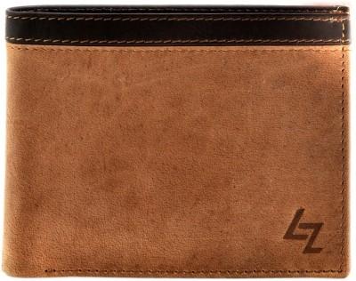 Leather Zentrum Men Tan Genuine Leather Wallet(3 Card Slots)