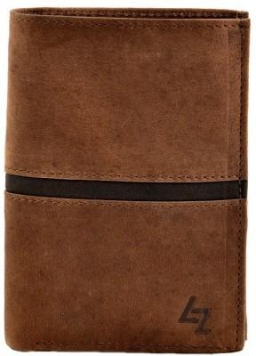 Leather Zentrum Men Tan Genuine Leather Wallet(9 Card Slots)