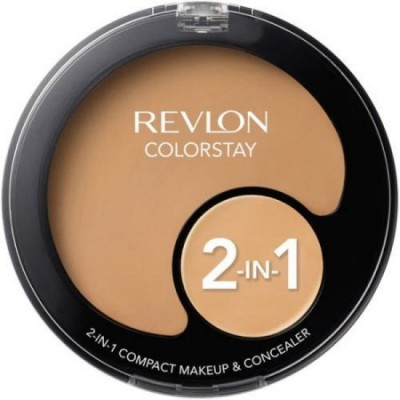 Revlon COLORSTAY 2 IN 1 MAKE UP AND CONCEALER Compact - 12.3 g(NATURAL OCHRE)