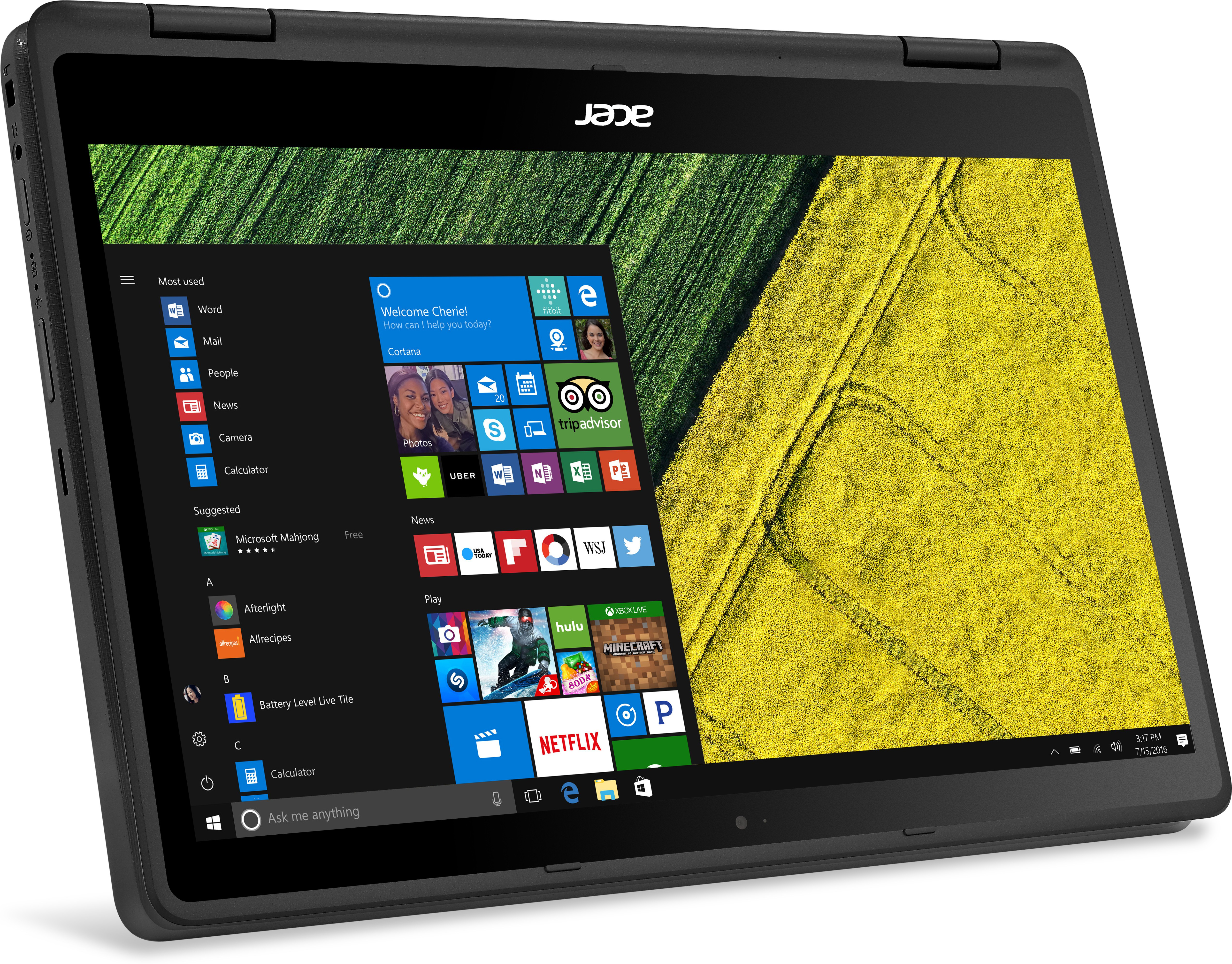Acer Spin 5 Core i3 7th Gen - (4 GB/256 GB SSD/Windows 10 Home) SP513-51 2 in 1 Laptop(13.3 inch, Black, 1.6 kg)   Laptop  (Acer)