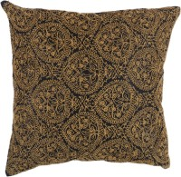 JAGDISHSTORE Embroidered Cushions Cover(40 cm*40 cm, Black)
