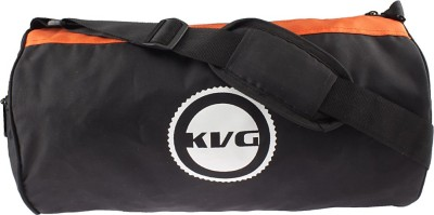 KVG Creative Duffel Bag Gym Bag(Black, Orange)